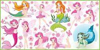 WANDTATTOO Meerjungfrauen Elfen Schmetterlinge Wand Dekor Vinyl Aufkleber SET 5