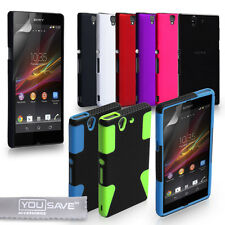 Accessories For The Sony Xperia Z Hard Hybrid Case Cover & Screen Protector Uk