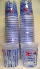 100 32oz 1quart Plastic Paint Mix Cups w/Graduations