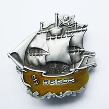 BRAND NEW PIRATE BOAT SHIP MARINE SEA BELT BUCKLE !!