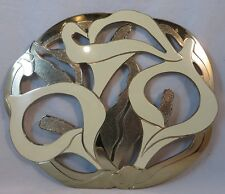 Peace Lilly Metal Cooling Tray Decorative Flower Tray Hot Plate Cooling Tray..