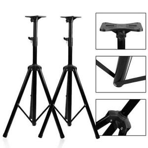Pair of Pro Tripod DJ PA Speaker Stand 132lb Load Adjustable Height Stands