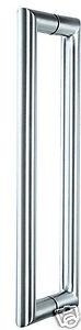 Door Pull Handle Set Satin 316 Marine Grade Stainless Steel (Best Quality)