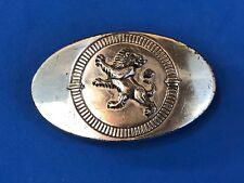 Vintage Large Retro Rampant LION Fists up ready to fight BELT BUCKLE