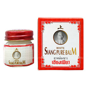 12g SIANG PURE BALM WHITE Relief Muscle Pain Massage Dizziness