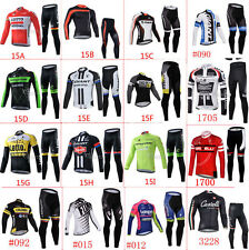 Winter fit New long sleeve cycling jersey, Thermal Fleece Tight pants set 2017
