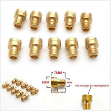 10 Pcs/Set 4mm Motorcycles Carb Main Jets Round Head For GY6 50cc 139QMB Scooter