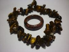 cristalloterapia BRACCIALE OCCHIO DI TIGRE + ANELLO braccialetto cristallo reiki