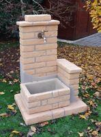 BONFANTE Fontana Fontanella da giardino pietra ricostruita EL PASO Tabacco