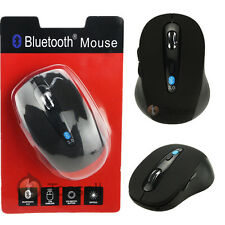 Wireless Mini Bluetooth Optical Mouse Black 1000 DPI for PC Tablet Android 3.1+