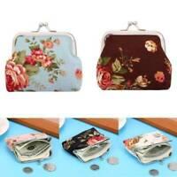 Women Retro Wallet Handbag Girls Change Coin Purse Hasp Clip Clutch Card Holder
