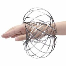 3D Magic Flow Ring Indoor Toys Kinetic Spring Arm Slinky Juggle Rainbow Dance UK