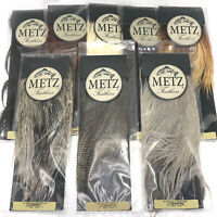 METZ ROOSTER SADDLE, GRADE #2 - Fly Tying Hackle Feathers Hair Extensions NEW!