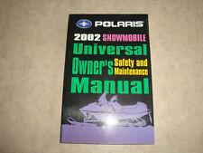2002 Polaris Universal Snowmobile owners manual