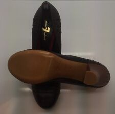 FOR ALL MAN KIND Brown Leather High Heel Pumps 39.5 9M Italy NEW NEVER WORN!!!
