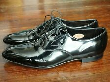 WORN ONCE | EDWARD GREEN UK 11 US 11.5 E CHELSEA BALMORAL BLACK TIE PATENT