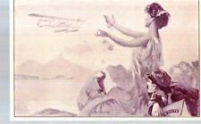 Riproduzione Cartolina Commemorative 1917 Posta aerea Borgoni