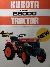 Kubota B6000 Diesel Compact 4x4 Amp 2wd Tractor Amp Implements Color Sales Brochure