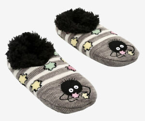 Studio Ghibli Spirited Away Soot Sprites Fluffy Cozy Non-Slip Slipper Socks