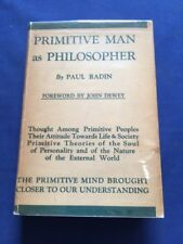 PRIMITIVE MAN AS PHILOSOPHER - FIRST EDITION BY PAUL RADIN