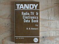 TANDY RADIO TV & ELECTRONICS DATA BOOK B.B. BABANI ELECTRONICS RARE BOOK