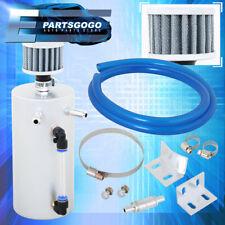 Billet Aluminum Turbo Oil Catch Can Tank Reservoir + Breather Filter Polish