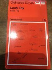 "1960s Old Vintage OS Ordnance Survey 1"" Map Sheet 48 Loch Tay"