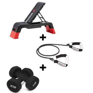 Reebok Deck w/ Adjustable Resistance Tube 1kg Pair of Exercise Weights Dumbbells