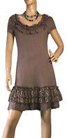 🌻 HEINE SIZE 42 STRETCH RUFFLE DRESS