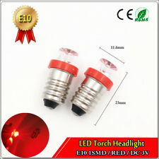 4PCS Bright RED E10 3V DC FLOOD Led Light Lamp Replacement Bulb for Torch Light