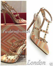 Women's Multi-Coloured 100% Leather Strappy, Ankle Straps Heels