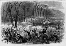 CIVIL WAR BATTLE OF SOMERSET OR MILL SPRING KENTUCKY SOLDIERS ENGAGE IN BATTLE