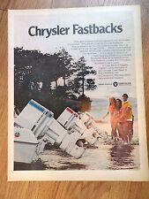 1970 Chrysler Boat Ad  Chrysler Fastbacks
