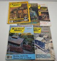 Vintage 1985 Railroad Model Craftsman Magazine Lot Of 5