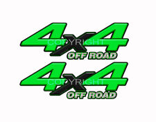 4X4 OFFROAD Green Black Decals Truck Graphic Laminated Stickers 2pack KM093ORBX