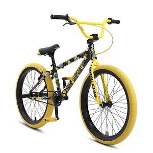 """New SE Bikes Yellow Camo So Cal Flyer 24"""" BMX 2021"""