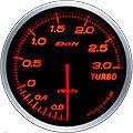 DEFI LINK METER ADVANCE BF TURBO BOOST GAUGE -3 BAR 60MM DF14702 AMBER /RED