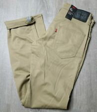 Levis 511 Slim Fit Stretch Commuter Reflective Beige Khaki Size 32X34 - New!