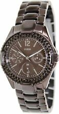 GUESS Women's U13631L1 Feminine Classic Hi-Energy Bronze Swarovski Watch