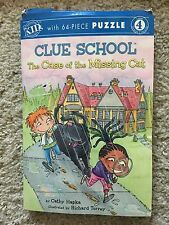 Clue School Case Missing Cat Book And 64 Piece Puzzle Cathy Hapka Reading Lev 4