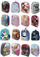 Boys/Girls Kids Backpack Junior Toddlers Character Rucksack School Lunch Bag