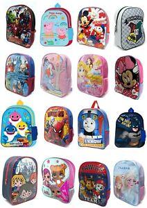 Kids Disney Backpack Boys Girls Toddler Character Rucksack School Lunch Bag BNWT