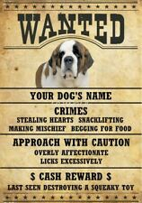 Saint Bernard Wanted Personalized Magnet With Your Dog's Name