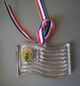 Waterford Cut Irish Crystal Fourth 4th of July American Flag Ornament