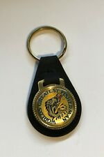 World's Greatest Fisherman Keychain Fish Key Ring - Classy Leather New Old Stock