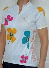 Lambda Cycling Bike Ladies Women Shirt Jersey Cycling Flower Top XS S M L XL XXL