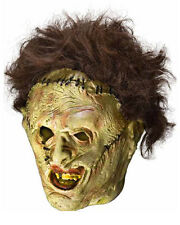 The Texas Chainsaw Massacre Leatherface Three Quarter Vinyl Mask And W One Size