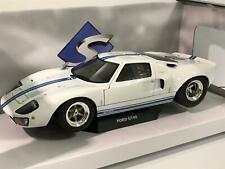Ford GT40 Widebody White Blue Stripe 1:18 Scale Solido S1803002