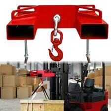 Forklift Hoist Hook Swivel Lifting Attachment Hitch 6600lbs Adapter Mobile Crane