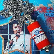 UNIQUE Cool BUDWEISER NECKLACE miniature CAN drink LAGER unisex PUB festival
